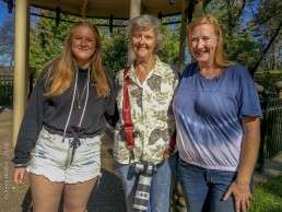 Camp Fire in Paradise CA Outing - Billie Park Gazebo - Debbie, Kim & Chole - Beauty from Ashes - Copyright 2019 HeartWork Photography