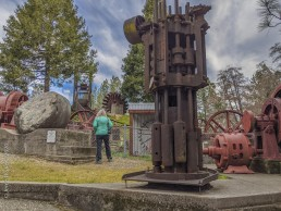 Volunteer Photography Training - Wolf Creek Trail - Northstar Mining Museum - Gold Mining Stamp Mill - Pelton Wheel - Sue - Copyright 2020 HeartWork Photography