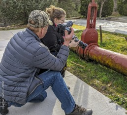 Volunteer Photography Training - Wolf Creek Trail - Northstar Mining Museum - hydraulic mining monitor - Yasha, Rick - Copyright 2020 HeartWork Photography
