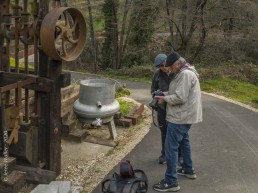 Volunteer Photography Training - Wolf Creek Trail - Northstar Mining Museum - Gold Mining Stamp - Depth of Field instruction - Bob & David - Copyright 2020 HeartWork Photography