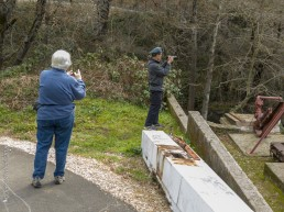Volunteer Photography Training - Wolf Creek Trail - Northstar Mining Museum - Mining Equipment - Judith and Bob - Copyright 2020 HeartWork Photography